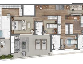 Duplex 158m² (Inferior)